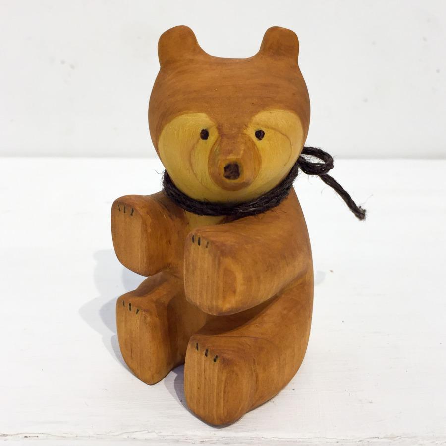 木彫りクマ(お座り)-1