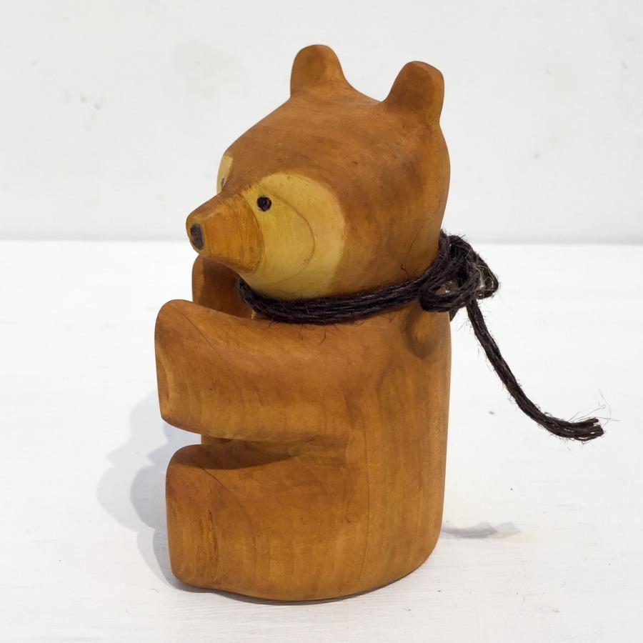 木彫りクマ(お座り)-2
