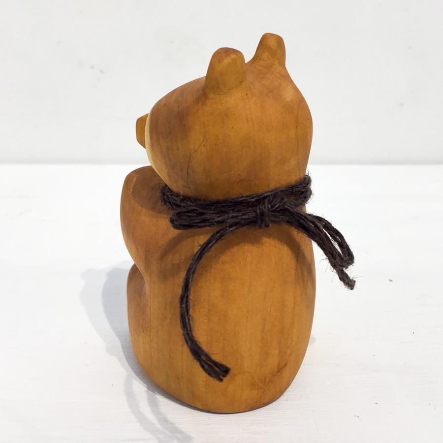 木彫りクマ(お座り)-3