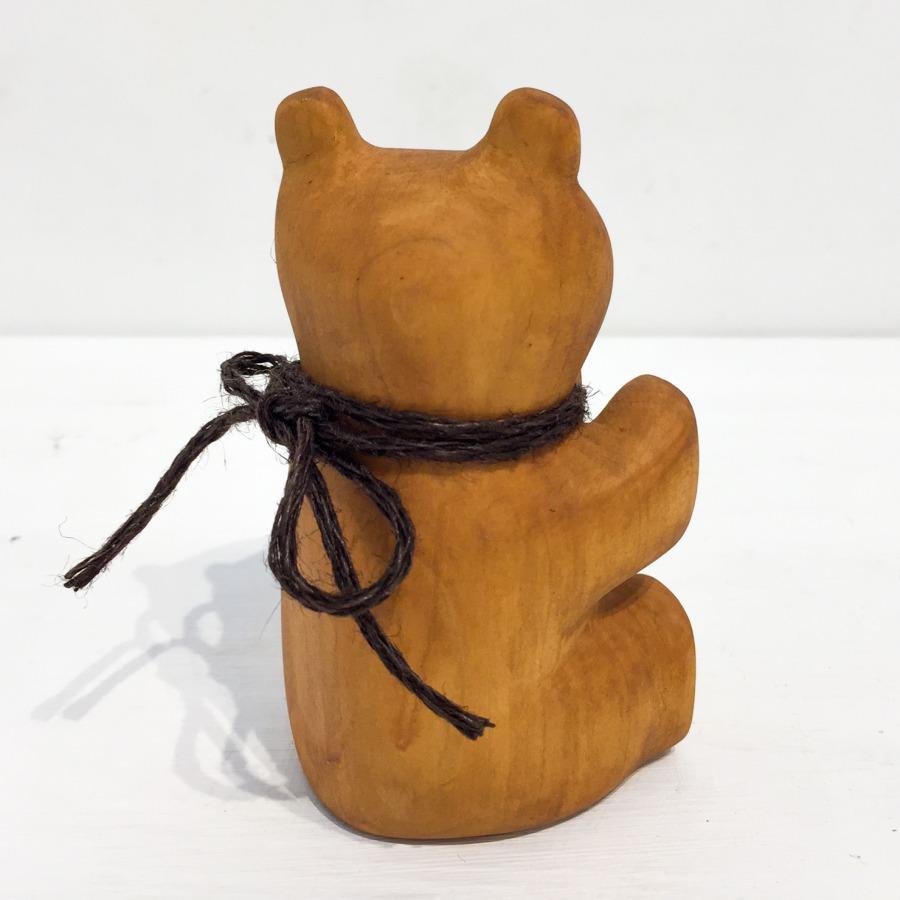 木彫りクマ(お座り)-4