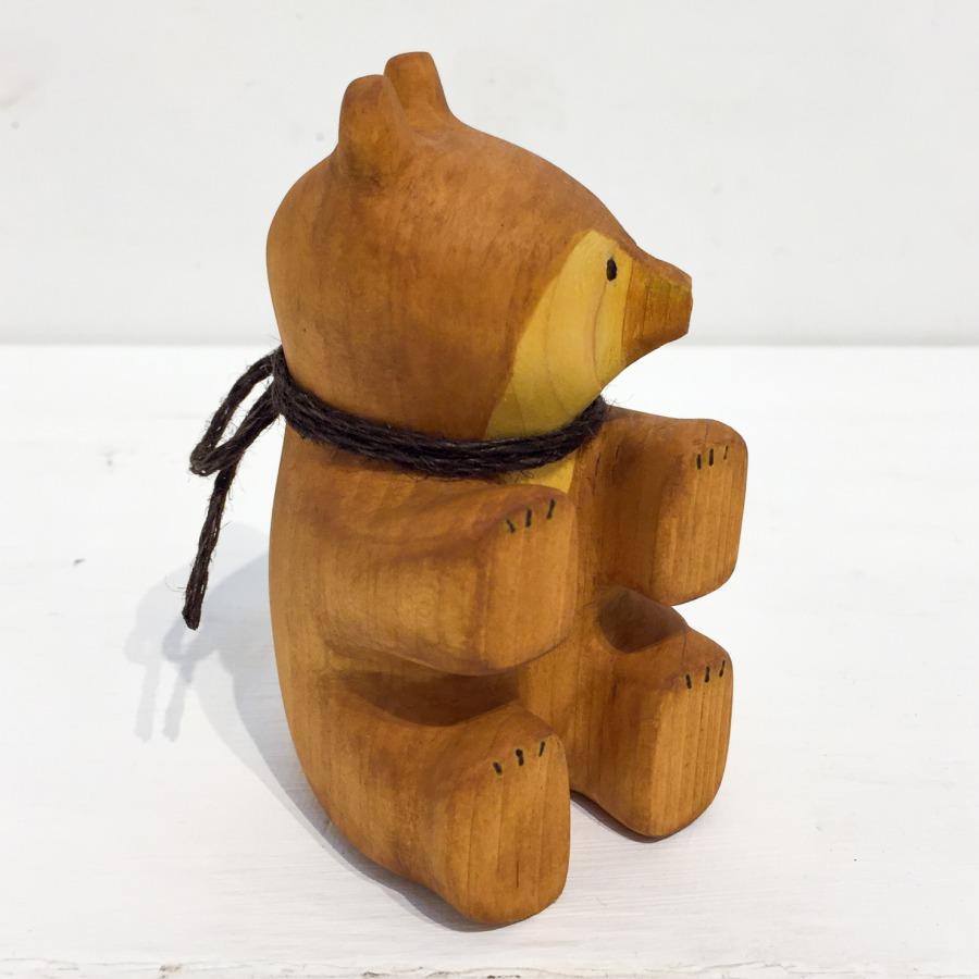 木彫りクマ(お座り)-5