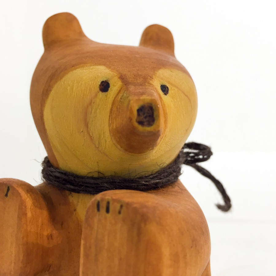 木彫りクマ(お座り)-7