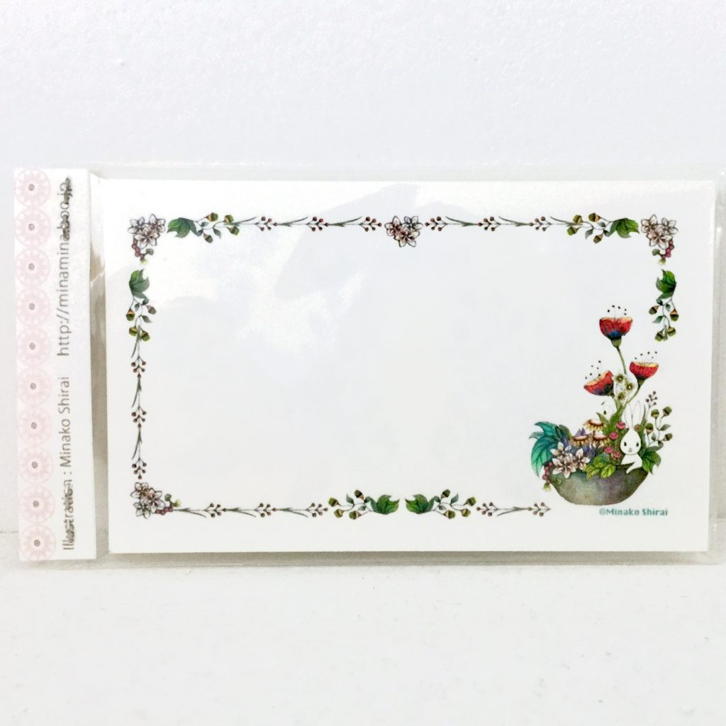 [名刺サイズ] メッセージカード10枚セット (うさぎ)-1