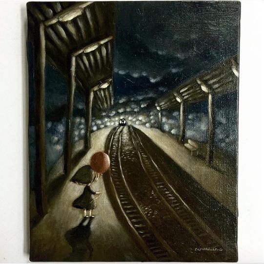 夜の駅-1