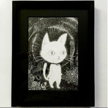線譜 【ネズミに恋したネコのタムちゃん】「恋に堕ちた瞬間のタムちゃん」