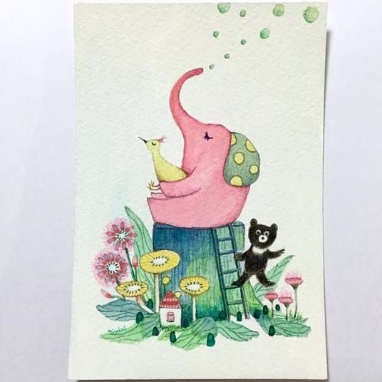 ピンクのゾウ-1