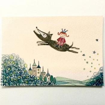 空飛ぶ子どもと動物-弱虫オオカミと王子様-