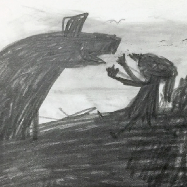 馬と旅をする少女-1