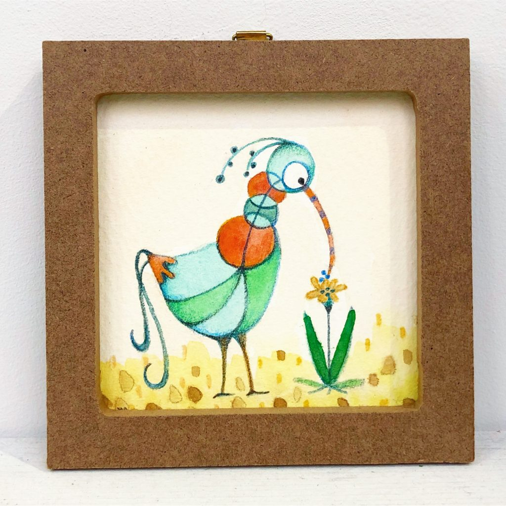 変な鳥シリーズ「チュウチュウ1」-1