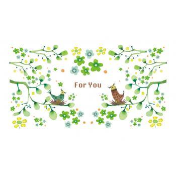 [名刺サイズ] メッセージカード10枚セット (くまと花)