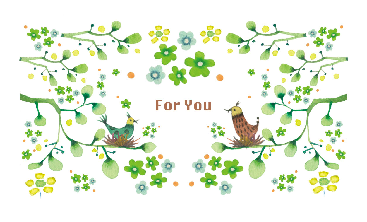[名刺サイズ] メッセージカード10枚セット (くまと花)-1
