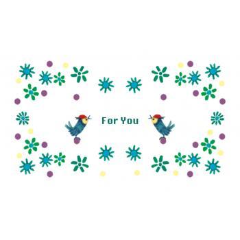 [名刺サイズ] メッセージカード10枚セット (くまと鳥)