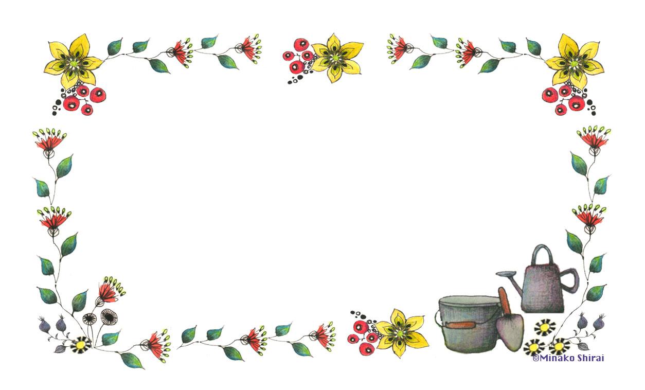 [名刺サイズ] メッセージカード10枚セット (猫と花)-2