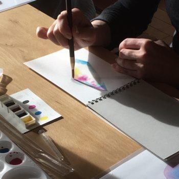 【11/20開催】あらいいづみ水彩画教室〜こころの彩・いろであそぼう〜