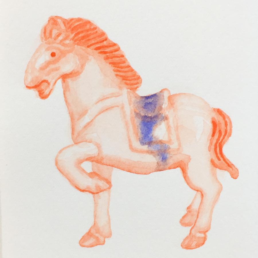 馬の置き物-4