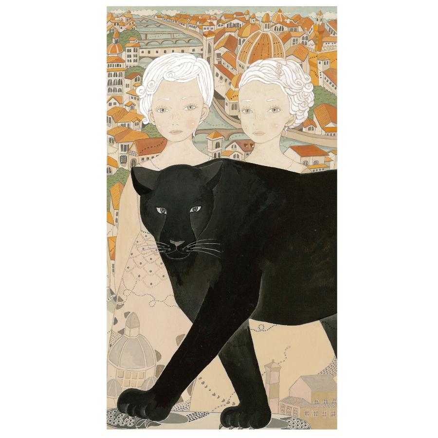 双子の女の子と黒豹-1