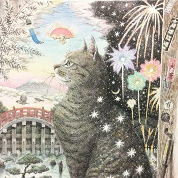 江戸感満載の猫アート♡