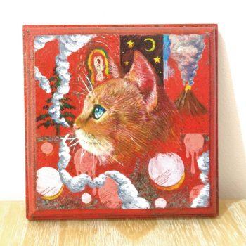 横顔猫(赤)