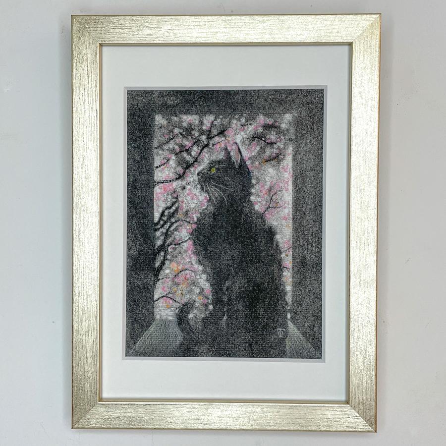 窓際猫(桜)-1