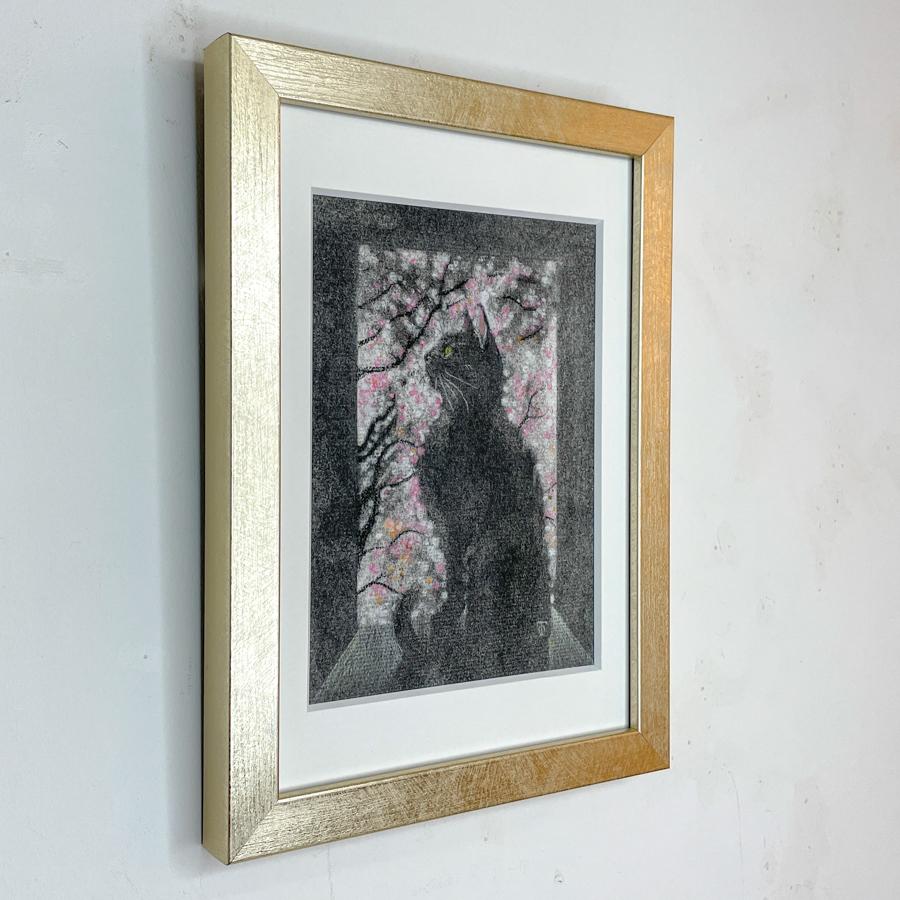 窓際猫(桜)-3