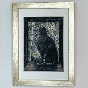 窓際猫(黒)