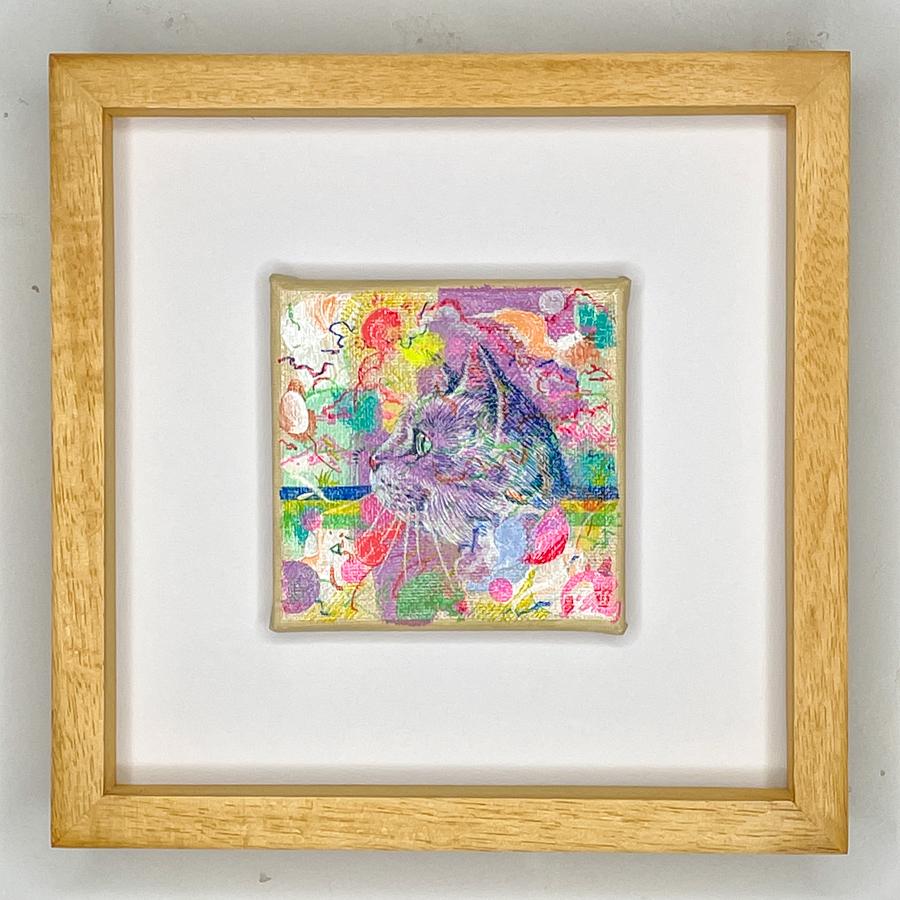 横顔猫(紫)-1