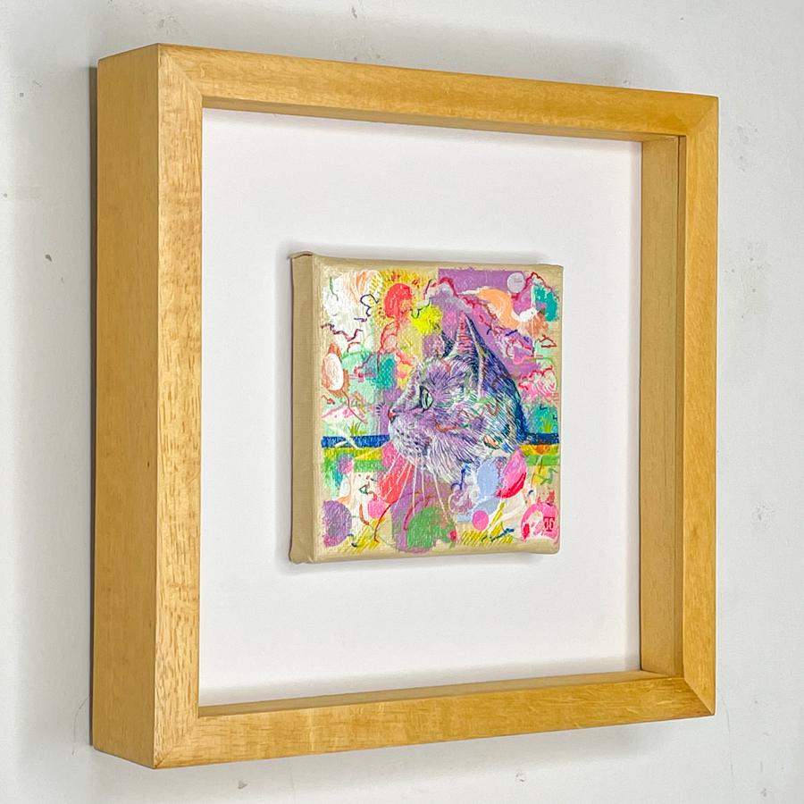 横顔猫(紫)-2