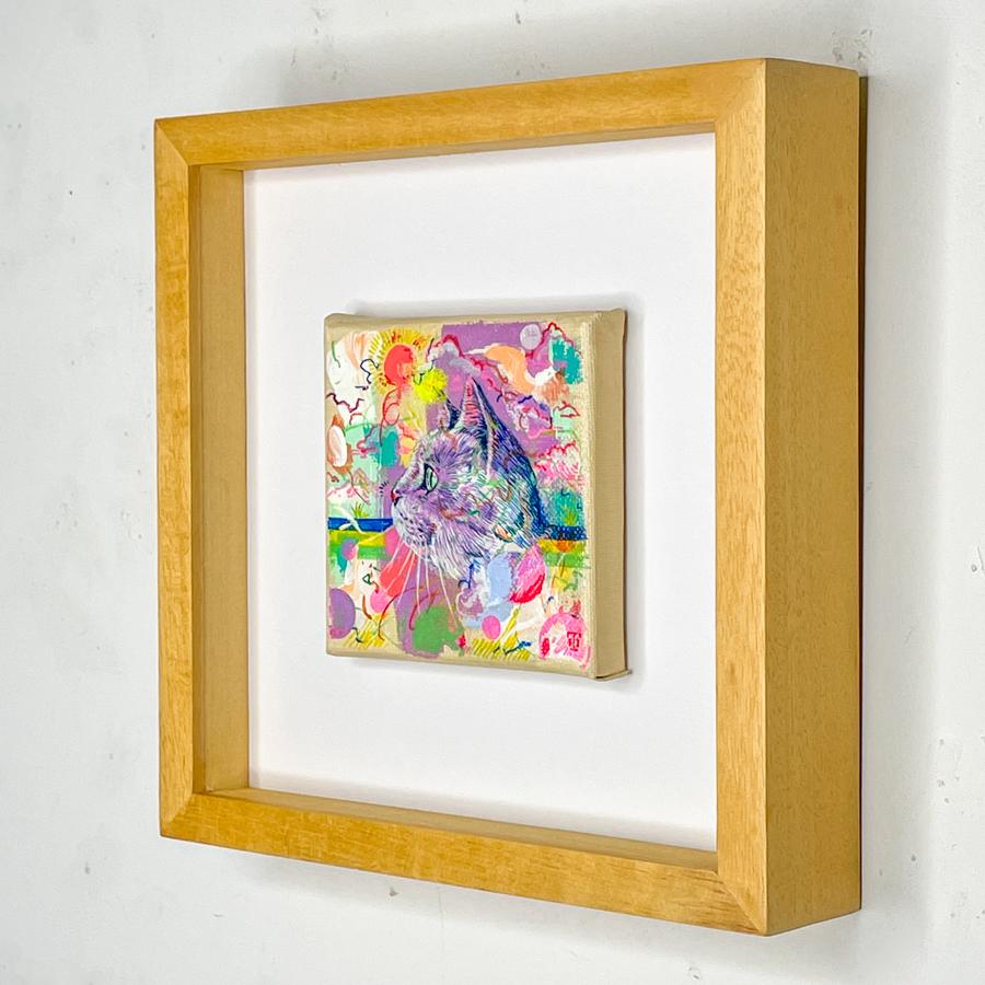 横顔猫(紫)-3