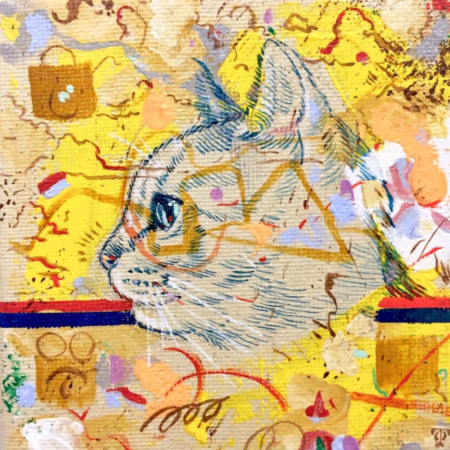 横顔猫(黄)-2