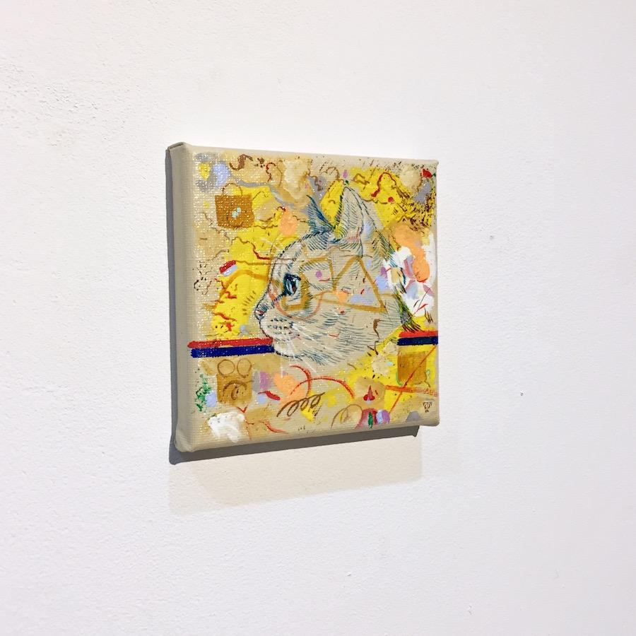 横顔猫(黄)-3