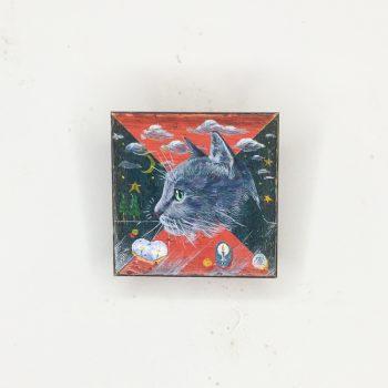 横顔猫(赤緑)