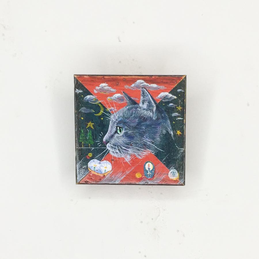 横顔猫(赤緑)-1