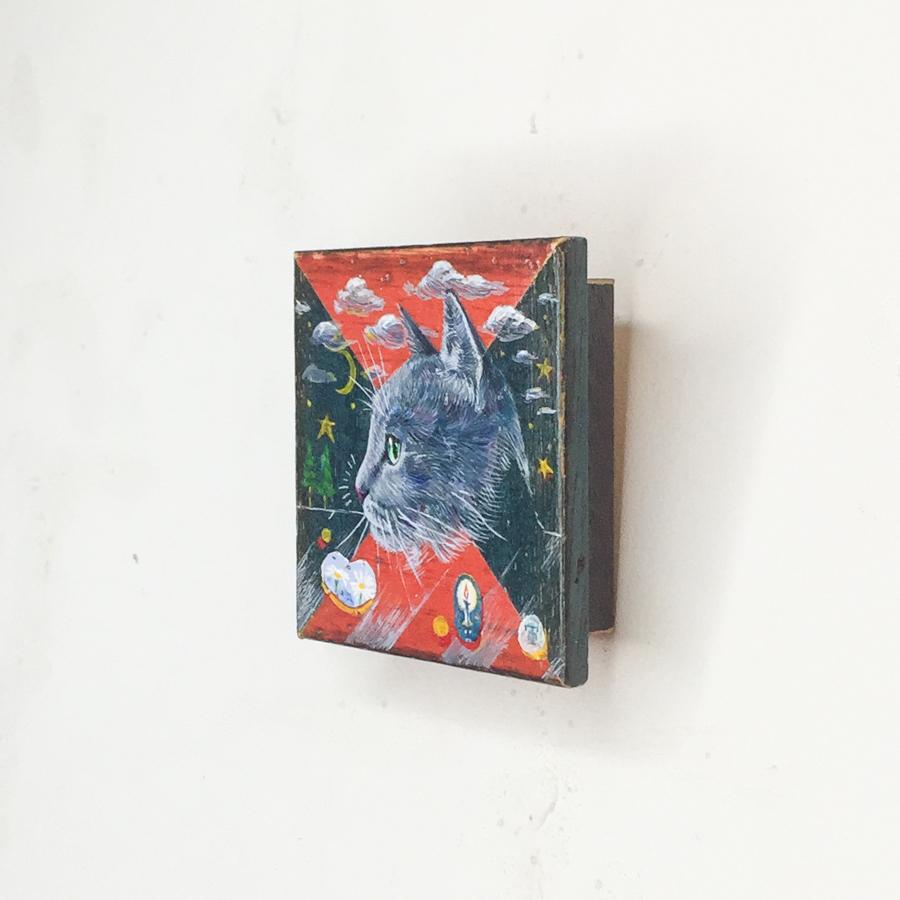 横顔猫(赤緑)-2