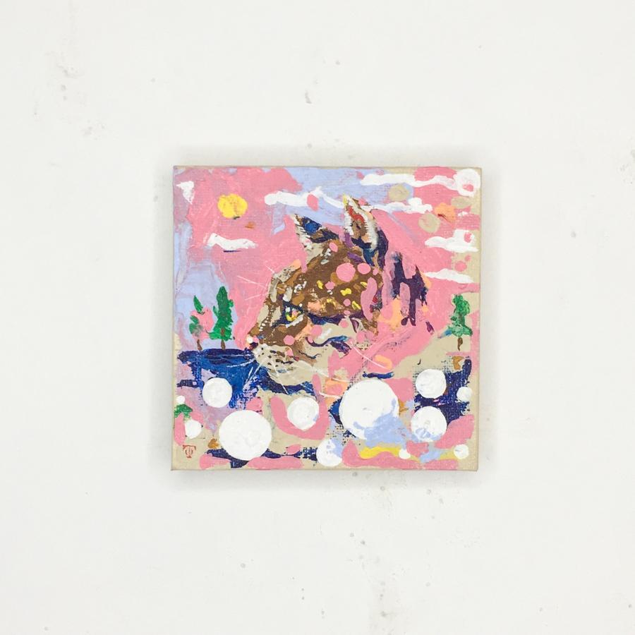 横顔猫(ピンク)-1