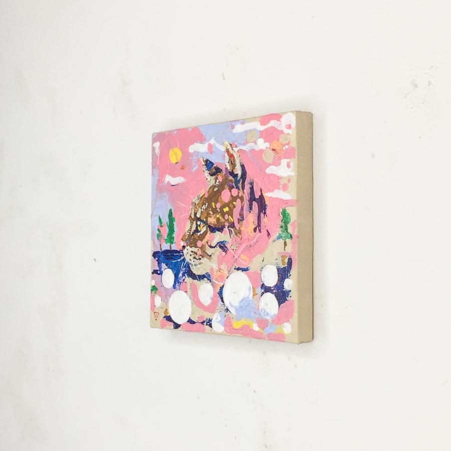 横顔猫(ピンク)-2