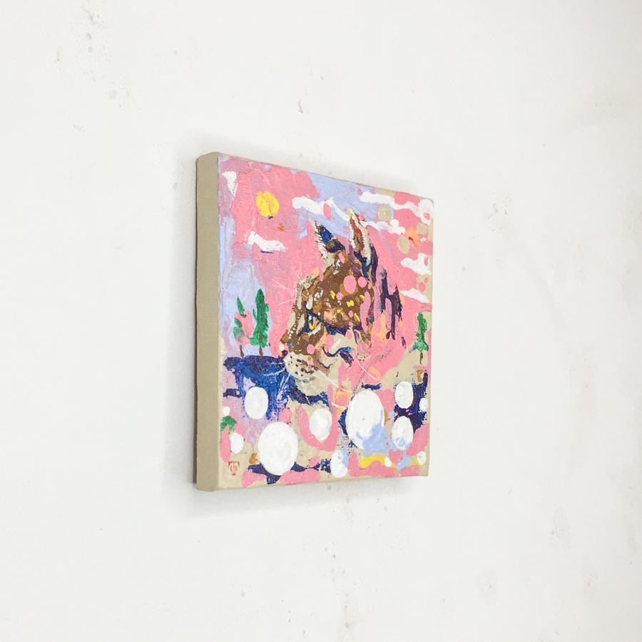 横顔猫(ピンク)-3