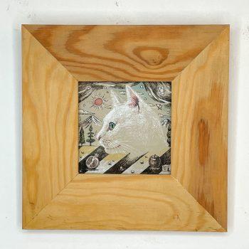 横顔猫(白猫)