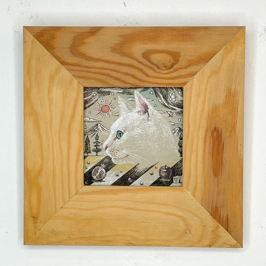 横顔猫(白猫)-1
