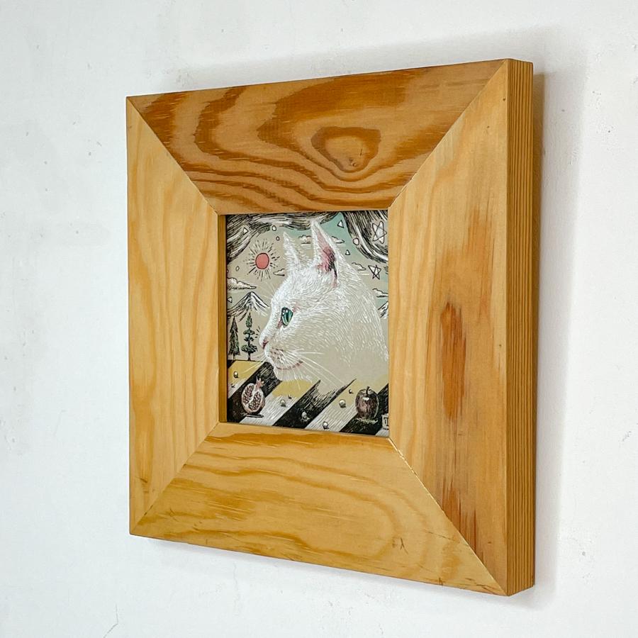 横顔猫(白猫)-2