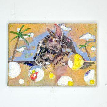 横顔猫(油画)