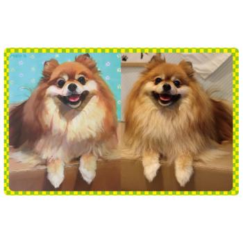 愛犬の肖像画をおうちに飾ろう! 愛犬×アート ウチの子アートになる!
