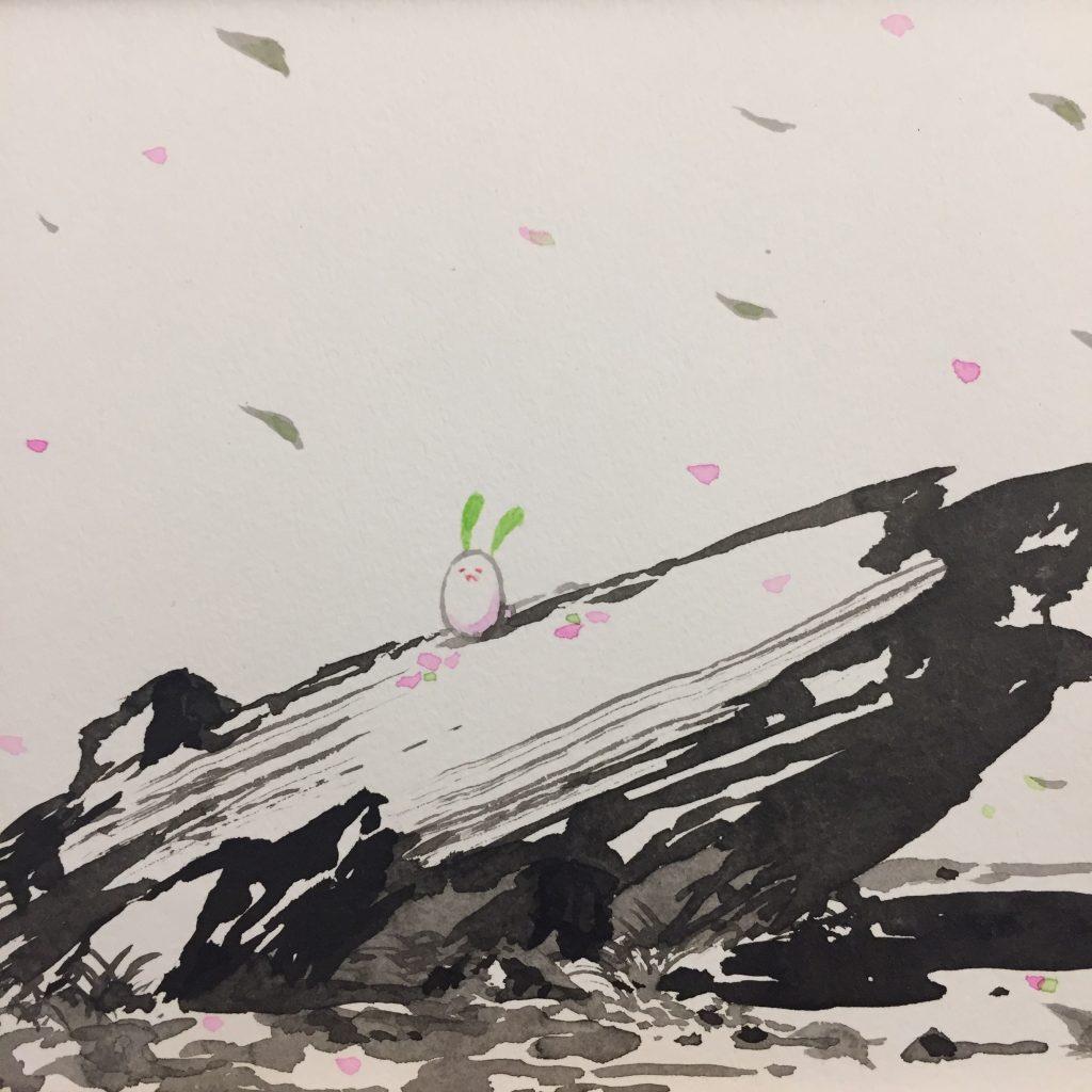 「すみちょこん 3」(額付き)-2