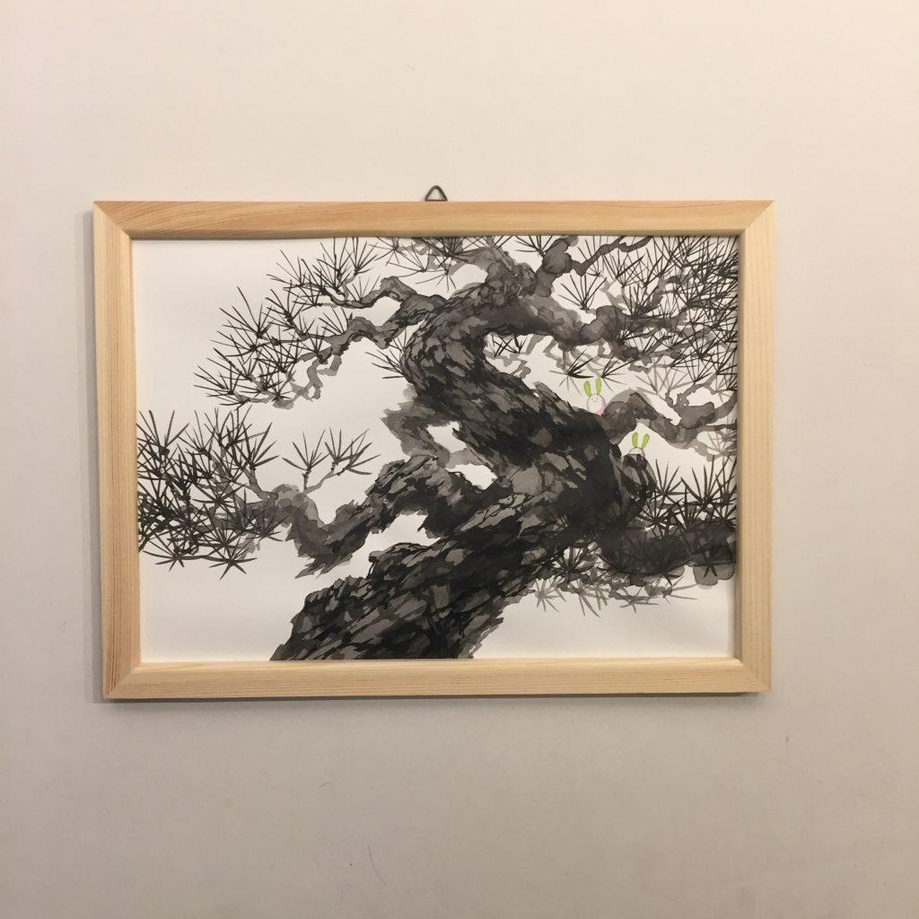 「すみちょこん 31」(額付き)-3