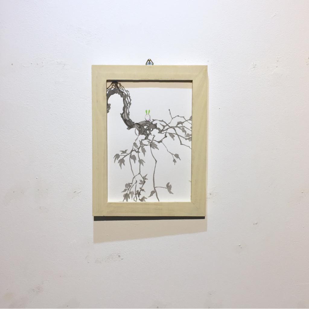 「すみちょこん 19」(額付き)-3