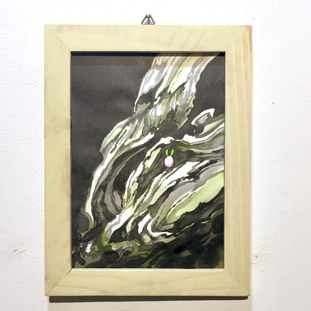 「すみちょこん 17」(額付き)-1