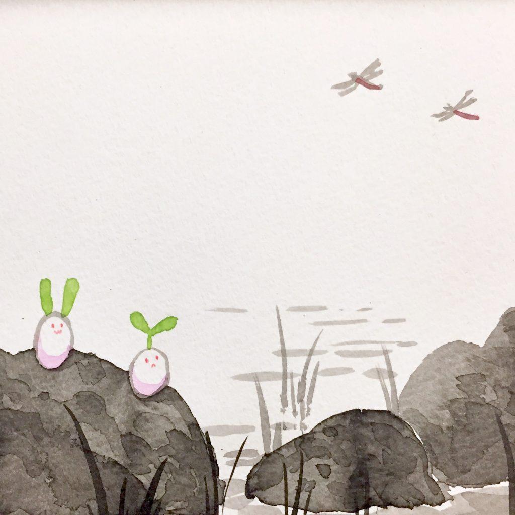 「すみちょこん 14」(額付き)-2