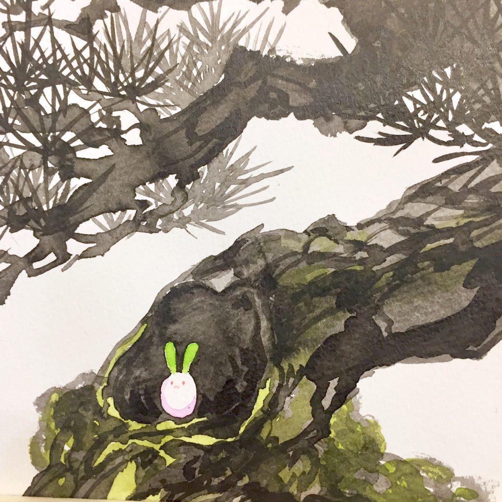 「すみちょこん 8」(額付き)-2