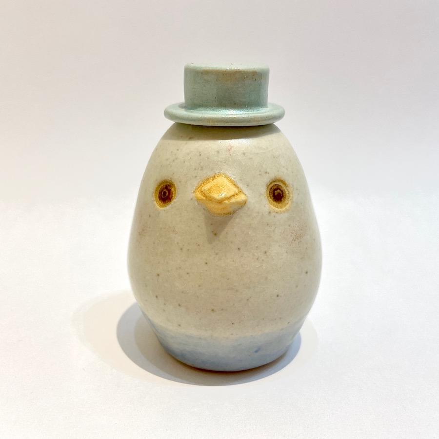 コトリの花いれ(シルクハット)-1