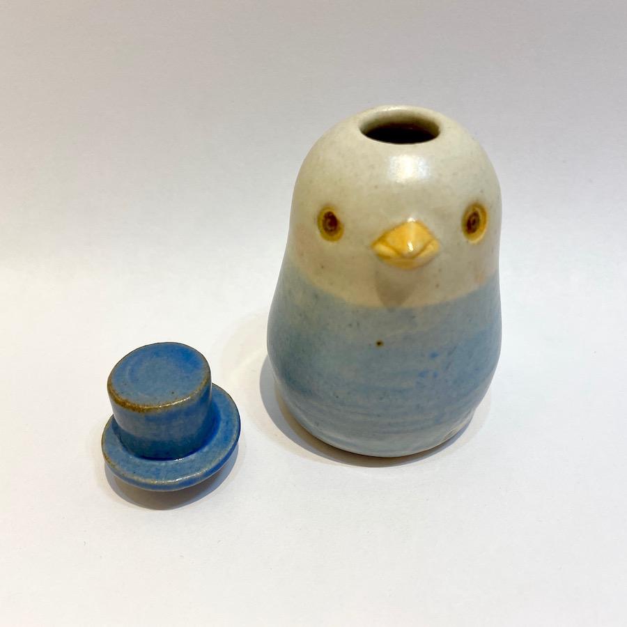 コトリの花いれ(シルクハット)-5