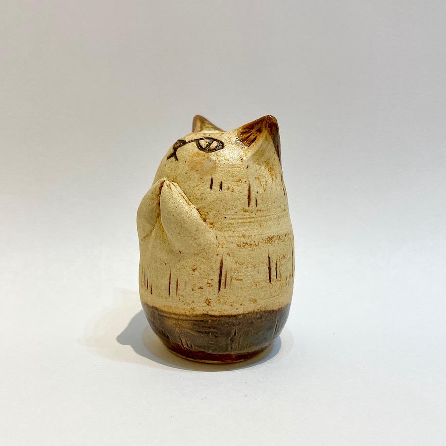 ネコの花いれ(祈り)-7